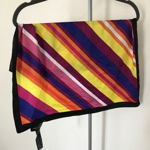 Zara silky square rainbow scarf